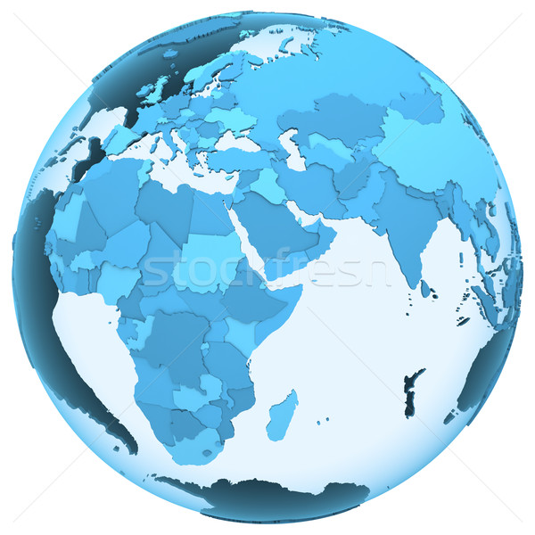 Afrika áttetsző Föld modell Föld látható Stock fotó © Harlekino