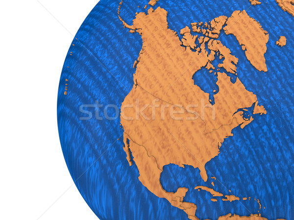 North America on wooden Earth Stock photo © Harlekino