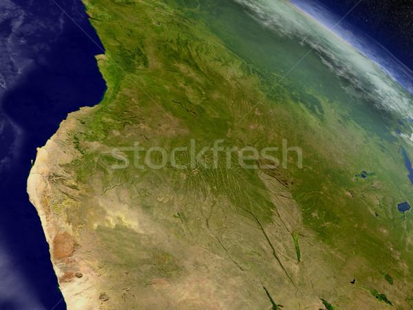 Ангола пространстве регион орбита 3d иллюстрации Сток-фото © Harlekino