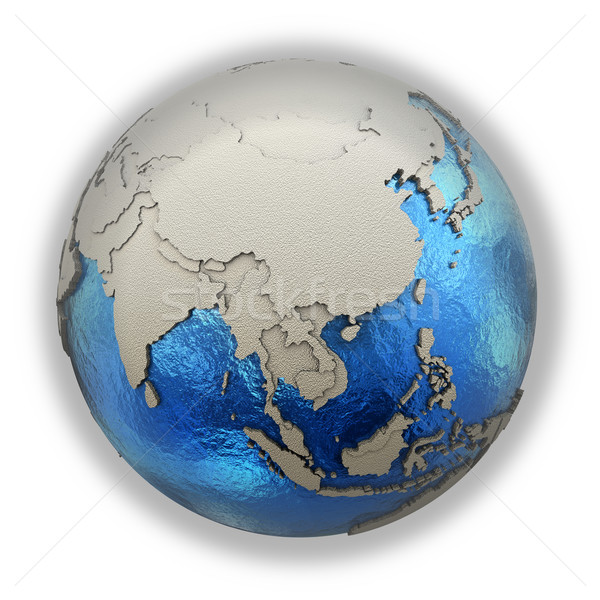 Southeast Asia on model of planet Earth Stock photo © Harlekino