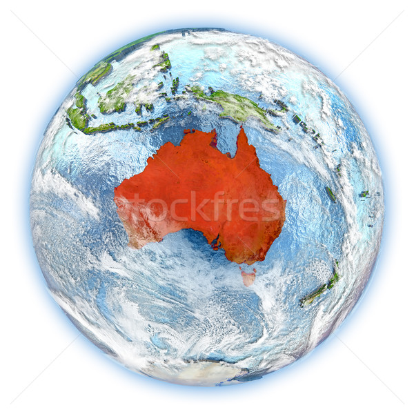 Australia on Earth isolated Stock photo © Harlekino