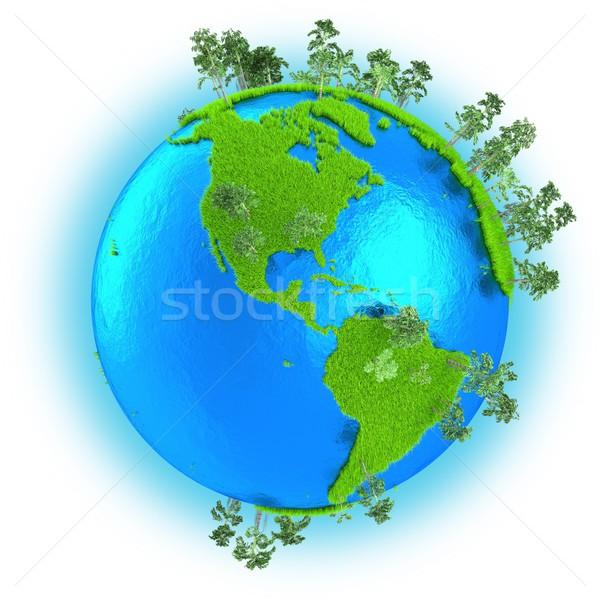 Americas on planet Earth Stock photo © Harlekino