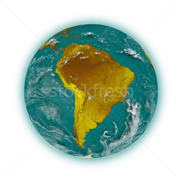Sud america pianeta terra blu isolato bianco Foto d'archivio © Harlekino