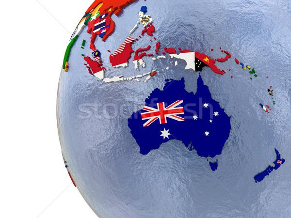 Siyasi harita ülke model dünya dünya haritası Stok fotoğraf © Harlekino