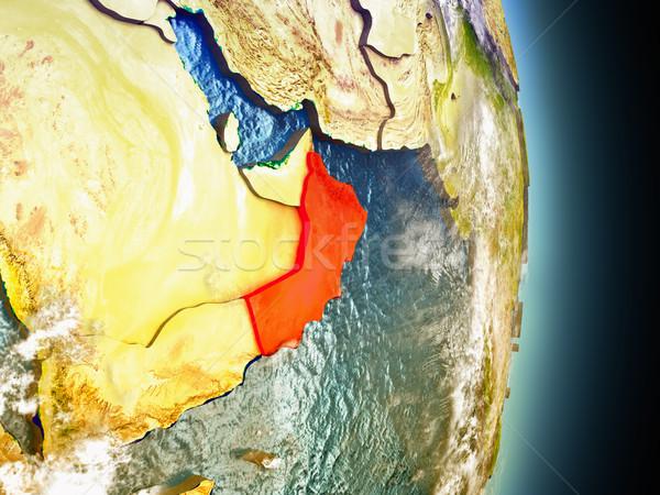 Umman kırmızı uzay model yörünge 3d illustration Stok fotoğraf © Harlekino