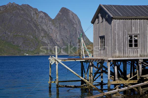 Old fishing port Stock photo © Harlekino