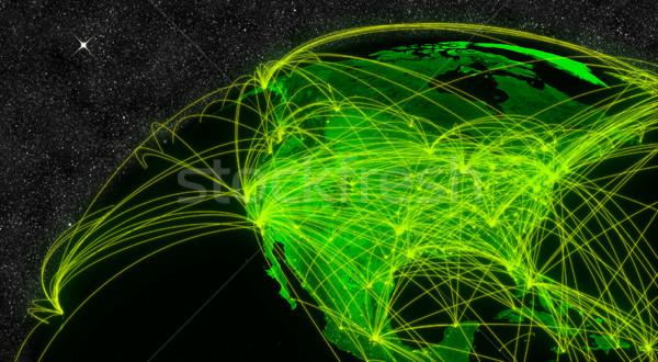 Na północ Ameryki sieci technologia informacyjna elementy obraz Zdjęcia stock © Harlekino