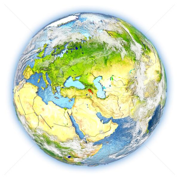 アルメニア 地球 孤立した 赤 地球 3次元の図 ストックフォト © Harlekino