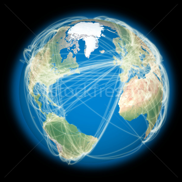 Сток-фото: Мир · планете · Земля · Континенты · глобальный