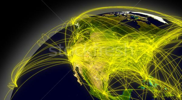 észak Amerika kapcsolatok űr fő- levegő Stock fotó © Harlekino