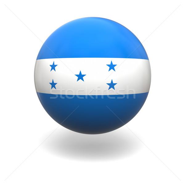 Honduras bandeira esfera isolado branco Foto stock © Harlekino