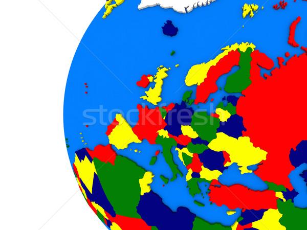 Continente politico mondo illustrazione bianco Foto d'archivio © Harlekino