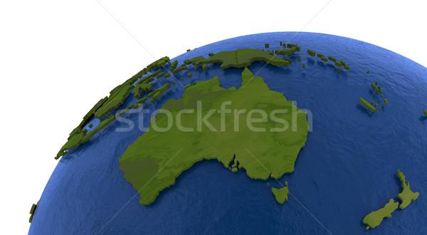 Australian continent on Earth Stock photo © Harlekino