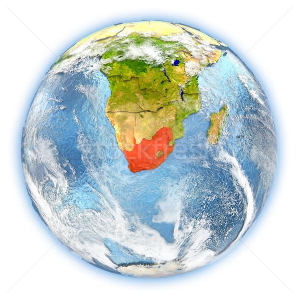 Güney Afrika toprak yalıtılmış kırmızı dünya gezegeni 3d illustration Stok fotoğraf © Harlekino