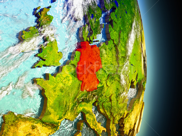 Germany in red from space Stock photo © Harlekino