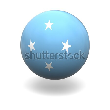 Micronésia bandeira esfera isolado branco Foto stock © Harlekino