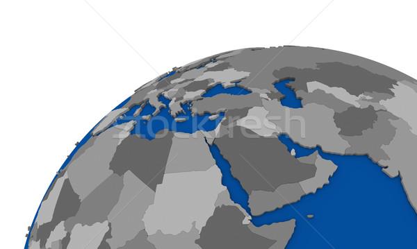 Bliskim Wschodzie region ziemi polityczny Pokaż świecie Zdjęcia stock © Harlekino