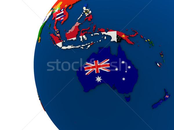 Político mapa país bandeira ilustração 3d modelo Foto stock © Harlekino