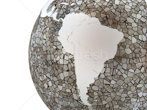 Южной Америке полупрозрачный земле металлический модель планете Земля Сток-фото © Harlekino