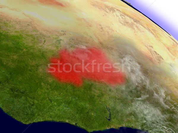 ブルキナファソ スペース 赤 軌道 3次元の図 ストックフォト © Harlekino