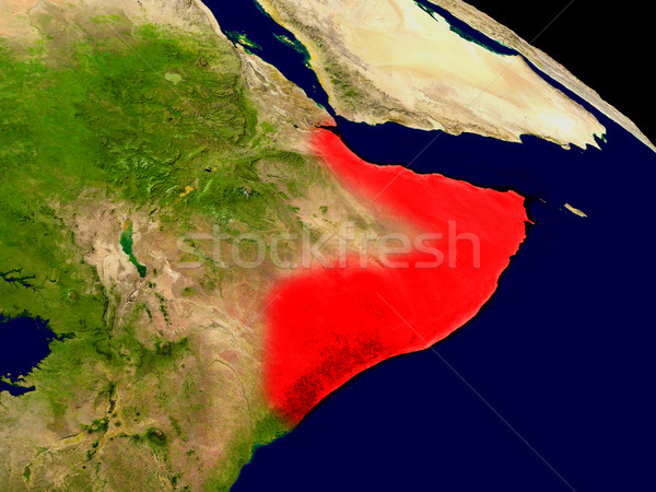 ソマリア スペース 赤 3次元の図 詳しい ストックフォト © Harlekino