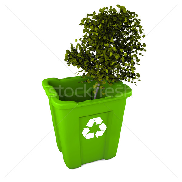 Tree in recycle bin Stock photo © Harlekino