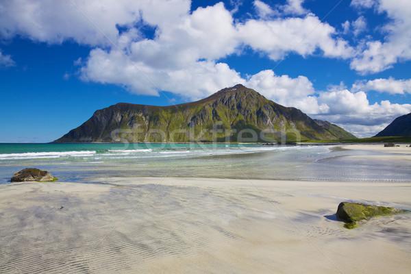 Scenic beach in Norway Stock photo © Harlekino