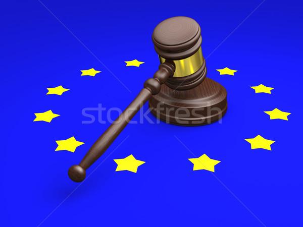 европейский прав молоток символ Союза флаг Сток-фото © Harlekino
