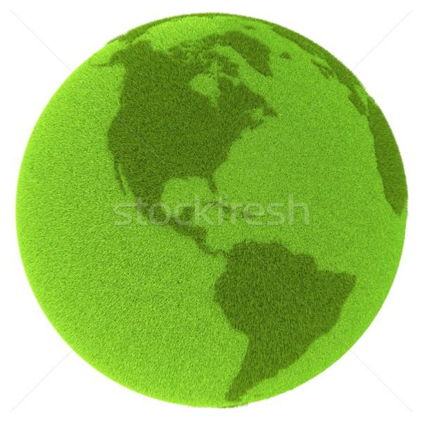 Americas on green planet Stock photo © Harlekino