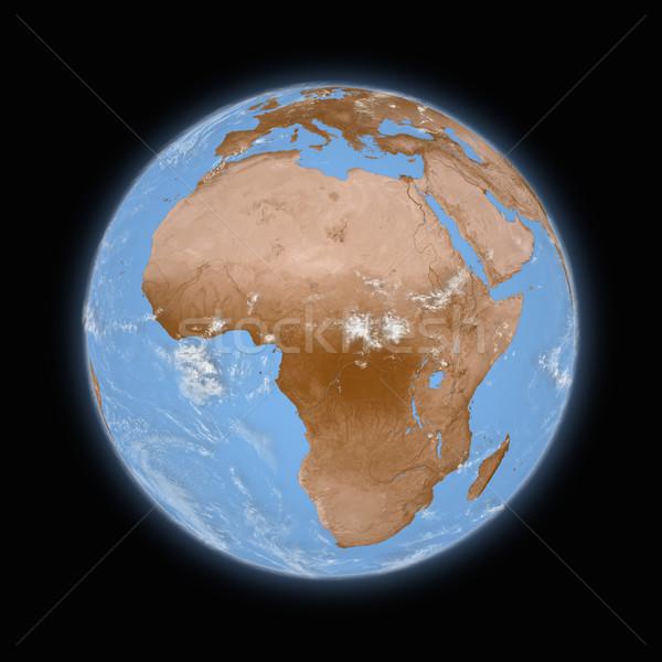 アフリカ 地球 青 孤立した 黒 ストックフォト © Harlekino