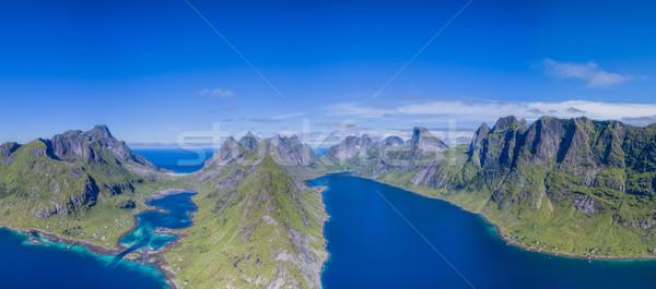 Ar belo Noruega panorama Foto stock © Harlekino