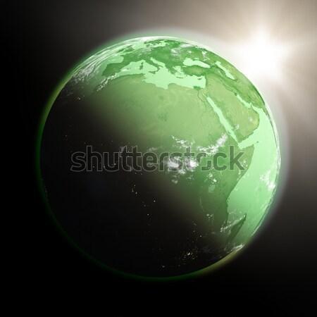 Nap dél-amerika zöld Föld izolált fekete Stock fotó © Harlekino