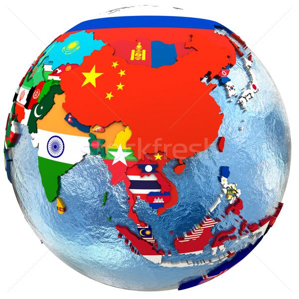 Political Asia map Stock photo © Harlekino