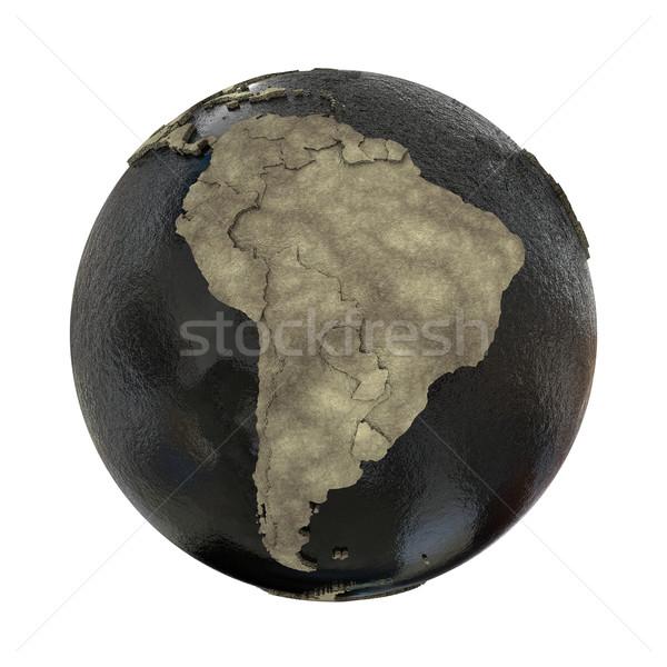 South America on Earth of oil Stock photo © Harlekino