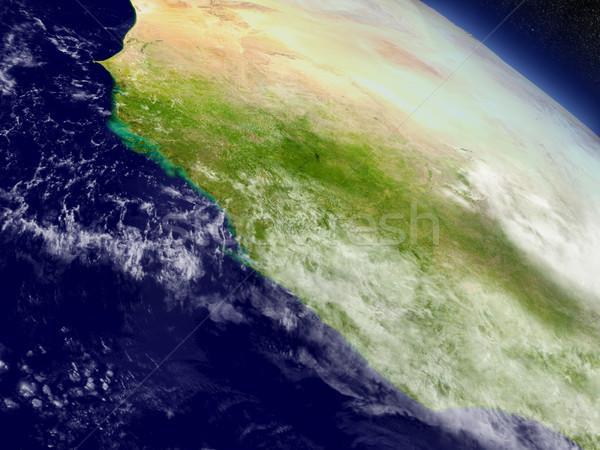 Liberia, Sierra Leone and Guinea from space Stock photo © Harlekino