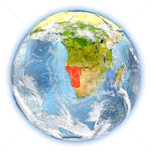 Namibia tierra aislado rojo planeta tierra 3d Foto stock © Harlekino