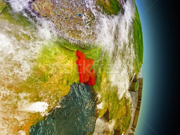 Bangladesh vermelho espaço modelo ilustração 3d Foto stock © Harlekino