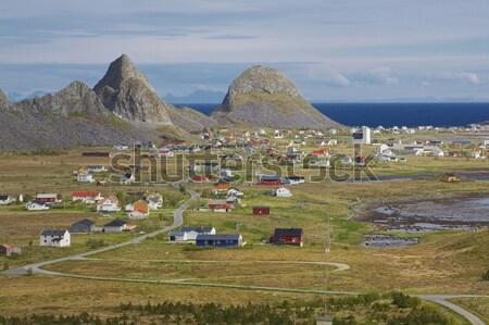 ノルウェーの 町 風光明媚な 釣り 島 風景 ストックフォト © Harlekino