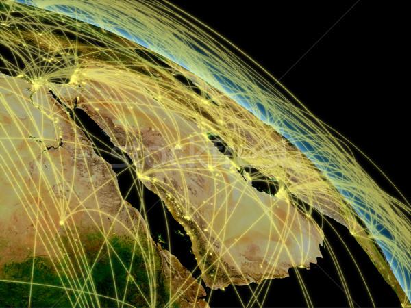 半島 ネットワーク スペース 詳しい ストックフォト © Harlekino