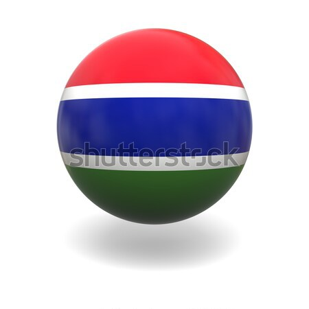 Gambian flag Stock photo © Harlekino
