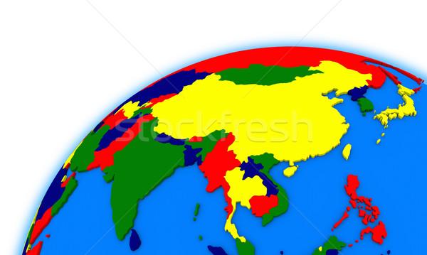 southeast Asia on globe political map Stock photo © Harlekino