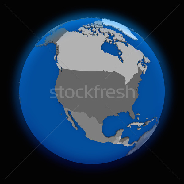 north America on political Earth Stock photo © Harlekino
