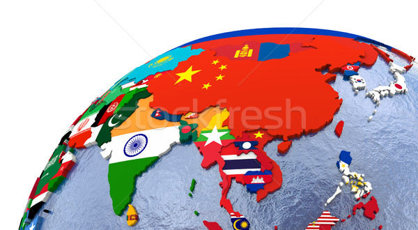 Political Asia map Stock photo © Harlekino