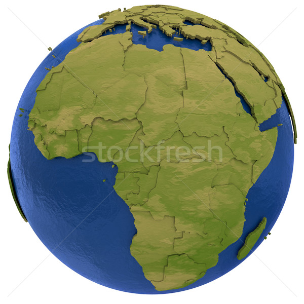 アフリカ 大陸 地球 アフリカ 詳しい モデル ストックフォト © Harlekino