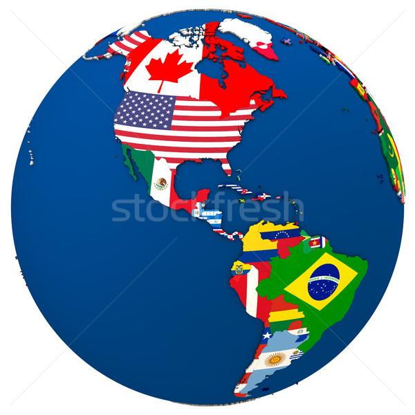 Political Americas map Stock photo © Harlekino