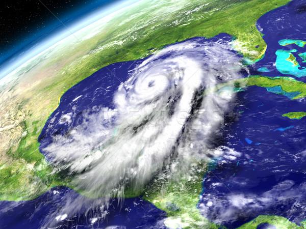 Orbit view of Hurricane Matthew Stock photo © Harlekino