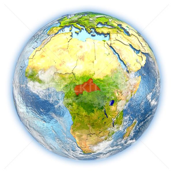 セントラル アフリカ 地球 孤立した 赤 地球 ストックフォト © Harlekino
