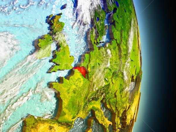 Bélgica rojo espacio modelo 3d Foto stock © Harlekino