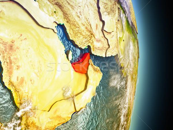 Birleşik Arap Emirlikleri kırmızı uzay model yörünge 3d illustration Stok fotoğraf © Harlekino