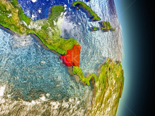 Nicaragua in red from space Stock photo © Harlekino